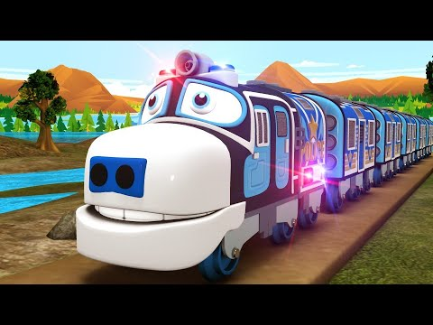 Chuggington Cartoon Railway - Police and Thief Toy Factory Cartoon Videos for Kids