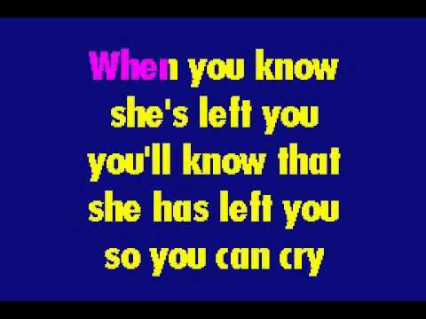 Paul Anka - It's Time To Cry karaoke