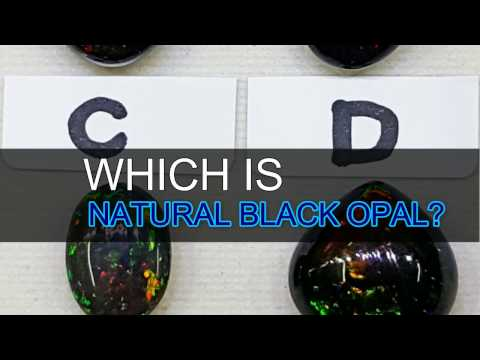 Which is natural Australian black opal?