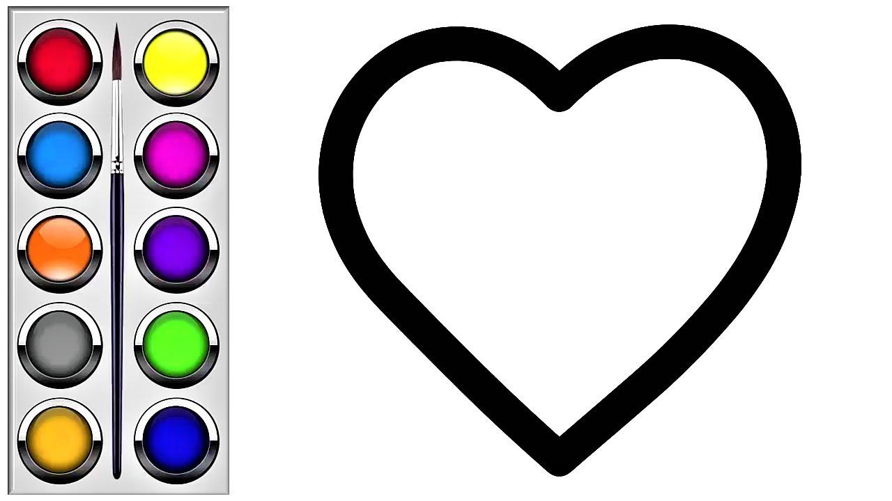 çocuklar Için Kalp çizim Ve Boyama Kalp Nasıl çizilir Kalp Boyama