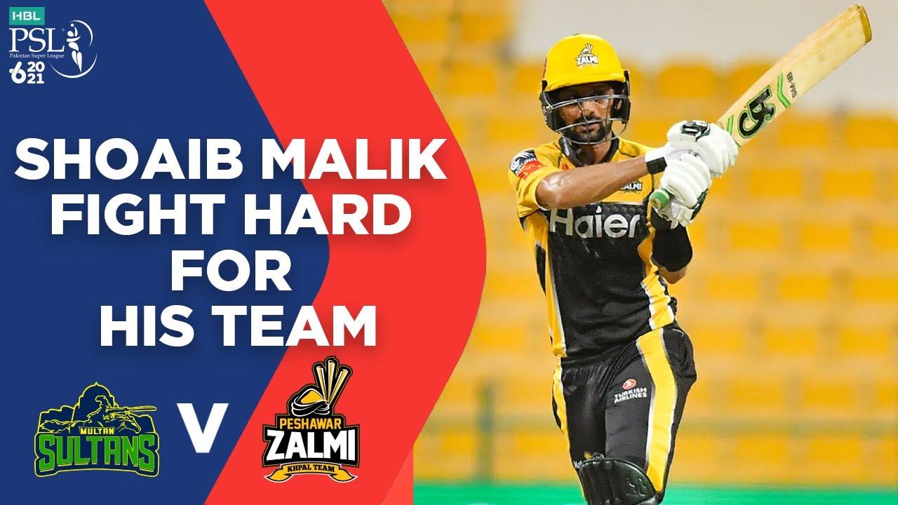 Shoaib Malik Fight Hard For His Team | Multan vs Peshawar | Final Match 34 | HBL PSL 6 | MG2L