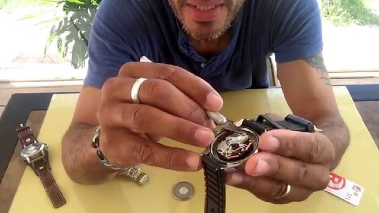 6f36189f55d7 Changing A Fossil Watch Battery - YouTube