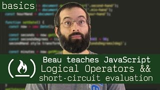 Logical operators && TRICKS with short-circuit evaluation - Beau teaches JavaScript