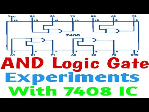 AND Logic gate Experiment With 7408 IC in hindi