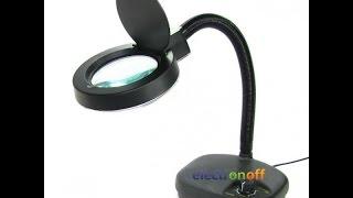 Настольная лампа-линза с круговой подсветкой и защитной крышкой. Видео от Electronoff