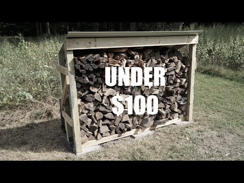 CHEAP DIY Firewood Rack | LESS THAN $100!