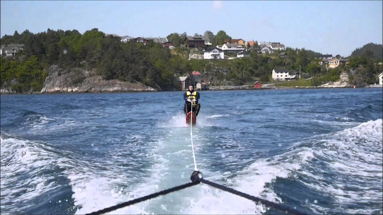 Gutsy air chair flip over dock mike murphy on hydrofoil waterskiing - Air Chair Test 2 May 2012