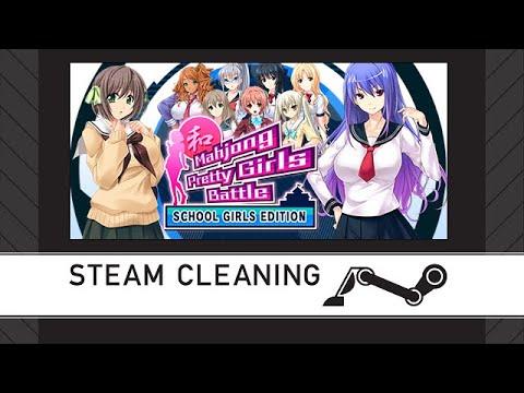 Steam Cleaning - Mahjong Pretty Girls Battle : School Girls Edition |