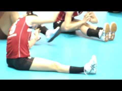ĐỘI VIỆT NAM - ÚC KHỞI ĐỘNG -  bóng chuyền nữ quốc tế VTV Eximbank Cup 2012