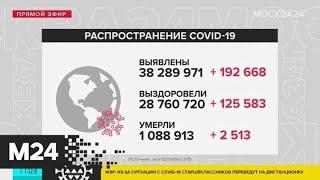 Число заразившихся коронавирусом в мире превысило 38 миллионов человек - Москва 24