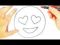 How to draw a heart eyes emoji for Kids heart eyes emoji Easy Draw Tutorial