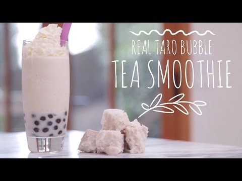 How To Make Taro Bubble Tea | Smoothie Recipe