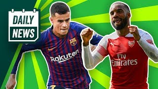 Coutinho to leave barca, de ligt agrees move + herrera wants 200k a week! ► onefootball daily news