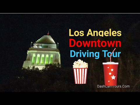 Los Angeles Driving Tour: Downtown LA on Saturday night. No Music.