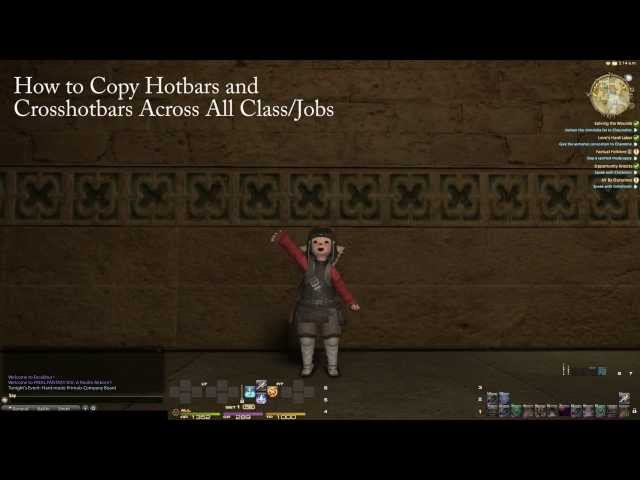 Final Fantasy XIV: A Realm Reborn – Copying Hotbars and