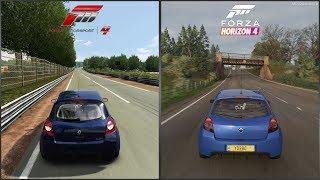 Forza Motorsport 4 vs Forza Horizon 4 - 2007 Renault Clio RS 197 Sound Comparison