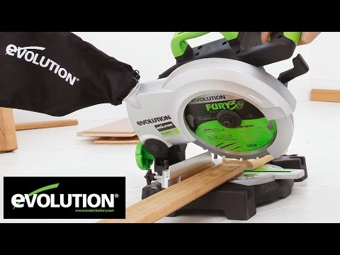 Evolution FURY3-B: 210mm TCT Multipurpose Compound Mitre Saw