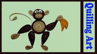 paper quilling monkey