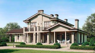 Проект дома в современном стиле. Дом с гаражом, террасой, бассейном и сауной. Ремстройсервис М-403
