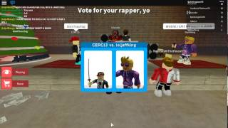 Roblox rap battles Part 2 (reuploaded)