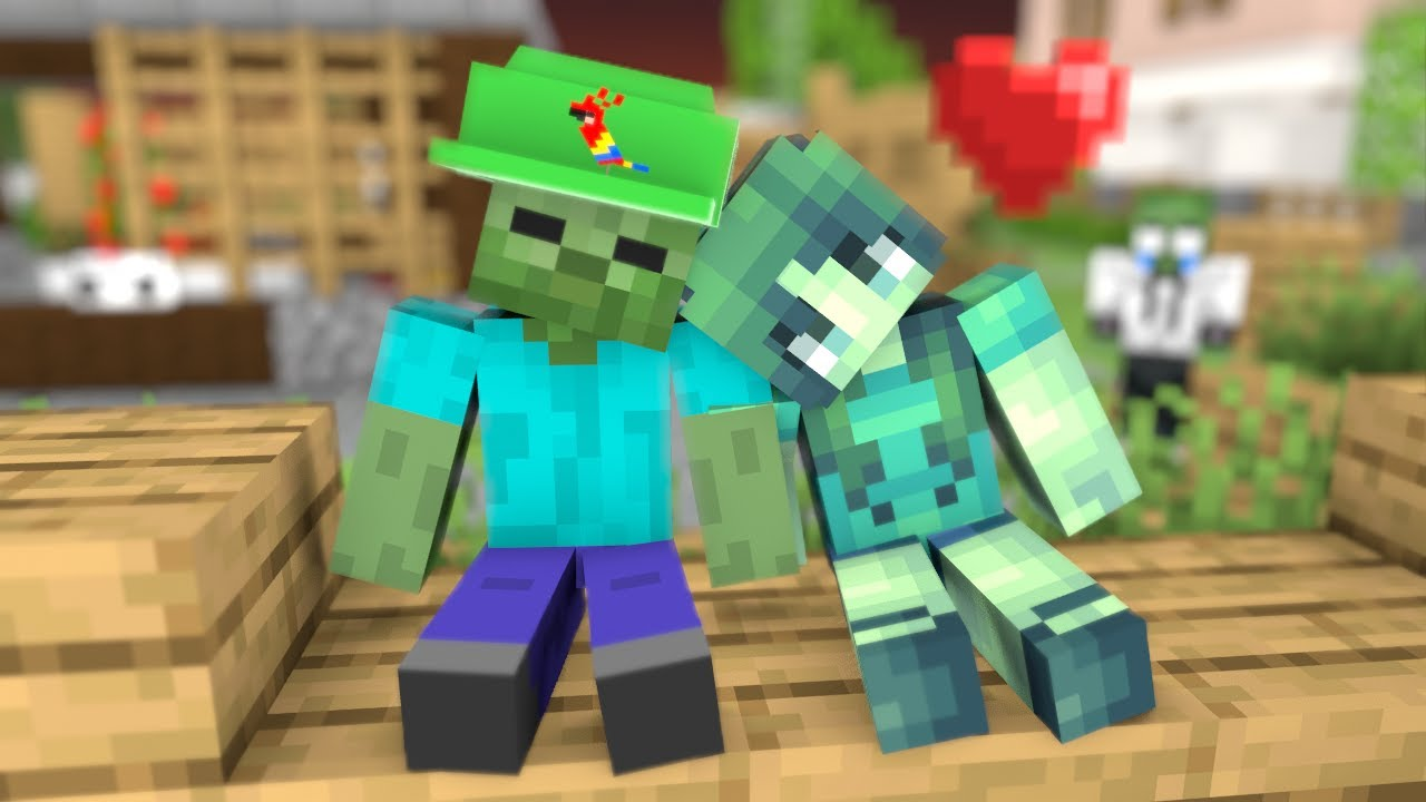 Monster School : Flirt With a Zombie Girl - Minecraft Animation Love Story