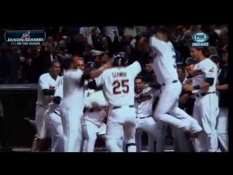 Jason Giambi Walkoff Homerun for Cleveland Indians