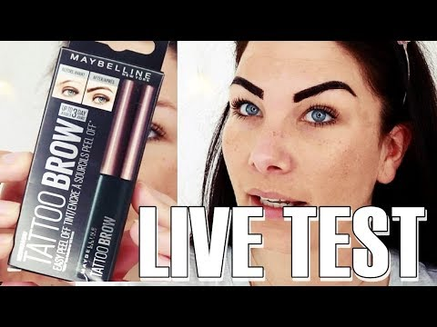 Maybelline tattoo brow h lt es wirklich 3 tage live for Maybeline tattoo brow
