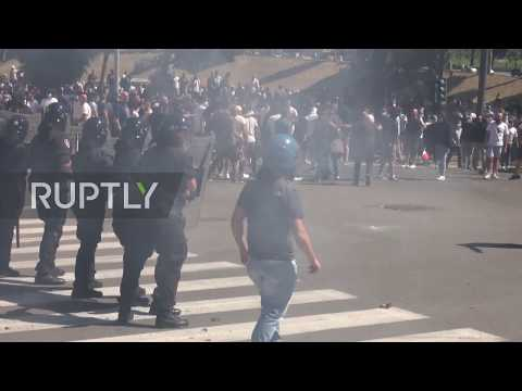 Italy: Clashes erupt as right-wing ultras protest govt. handling of coronavirus outbreak
