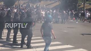 Italy Clashes erupt as right wing ultras protest govt handling of coronavirus outbreak