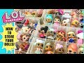 L.O.L Surprise doll Collection! 😍How to organize all your dolls and clothes! ❤ Let's sort and Play!