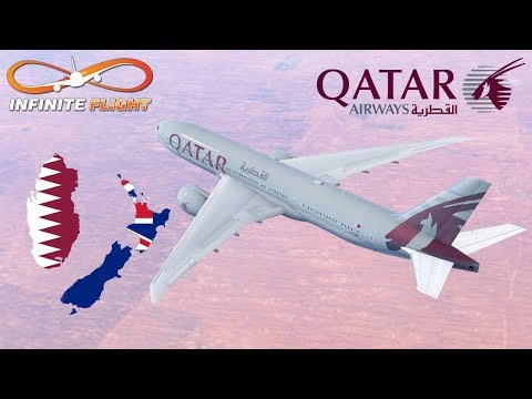 [World's Longest Flight] Infinite Flight GLOBAL: Auckland (NZAA) To Doha (OTHH) | Qatar Airways