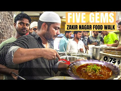 Core NON VEG STREET FOOD like OLD DELHI  | JAVED NIHARI + KABAB | Best Street Food in INDIA!
