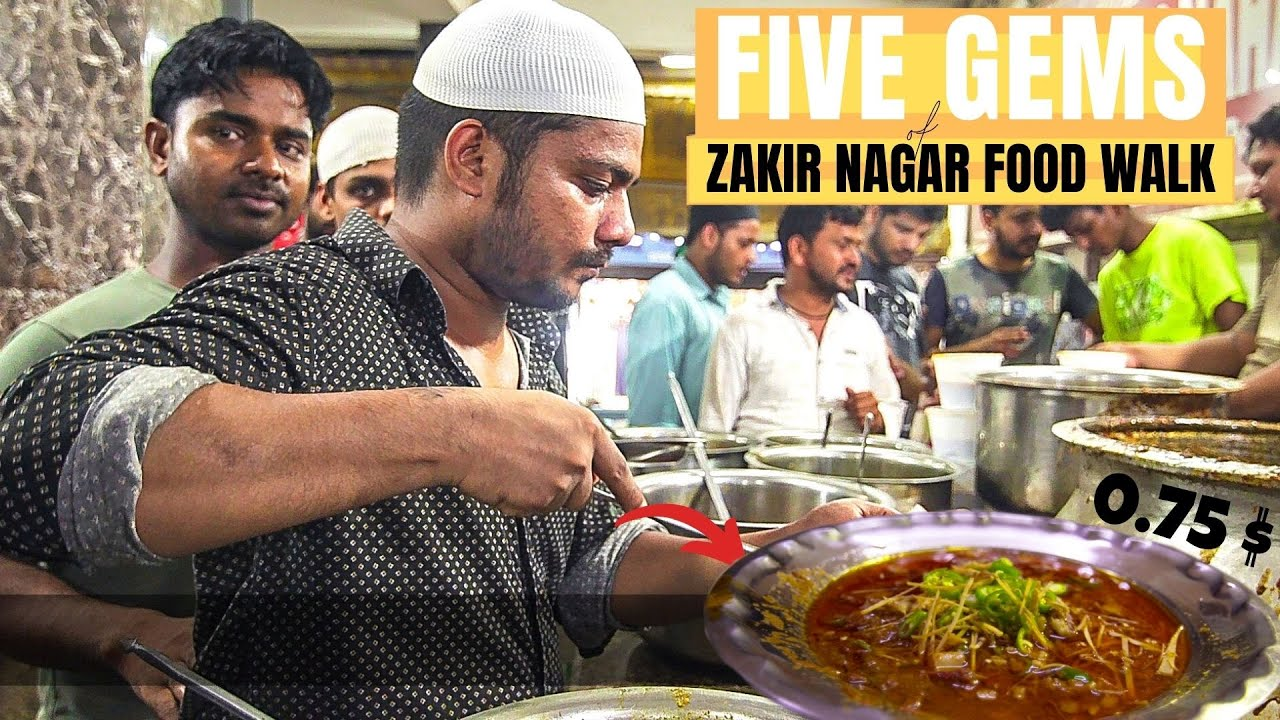 NON VEG STREET FOOD Heaven in DELHI | Zakir Nagar during ...