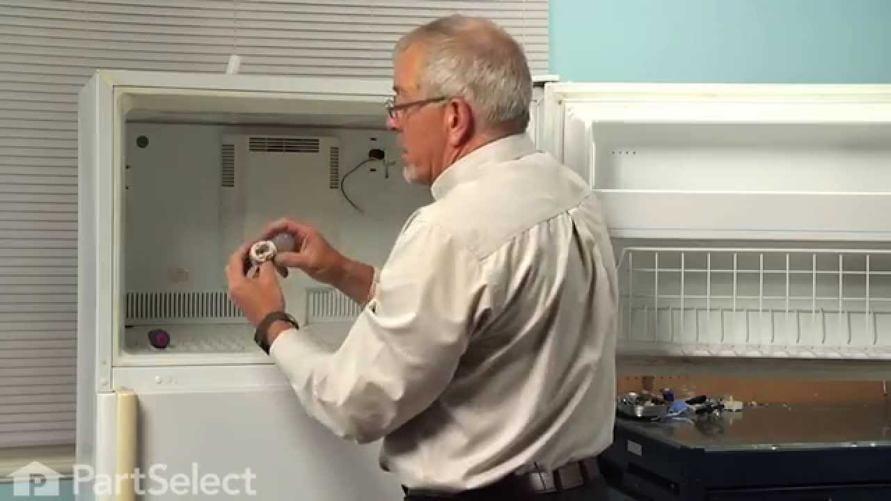 hight resolution of refrigerator repair replacing the evaporator fan motor whirlpool part 61004888 youtube