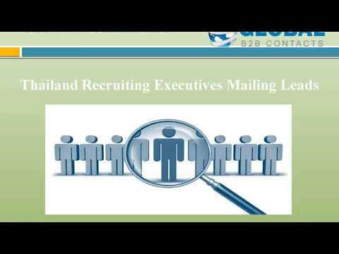 Thailand Recruiting Executives Mailing Leads