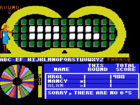 Wheel of Fortune for the Apple II