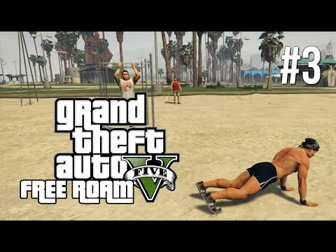 GTA V Next Gen Free Roam Gameplay #3 - Working Out (GTA 5 Free Roam PC Gameplay)