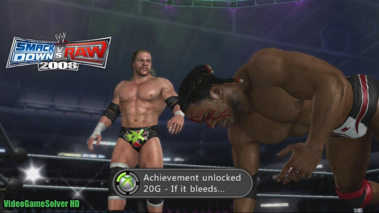 IF IT BLEEDS... Achievement - WWE SvR 2008 [Xbox 360] - YouTube