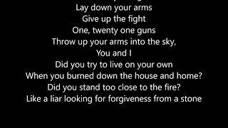 Green Day - 21 Guns - Lyrics Scrolling