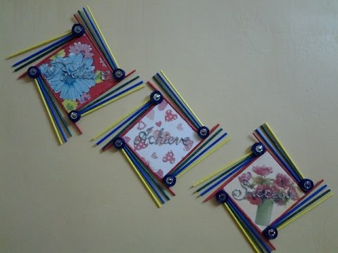 Best out of waste paper and foam board wall hanging with for Craft model with waste material