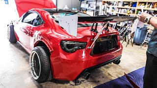 Installing the Biggest Wing I could find on my Wide-Body FRS!