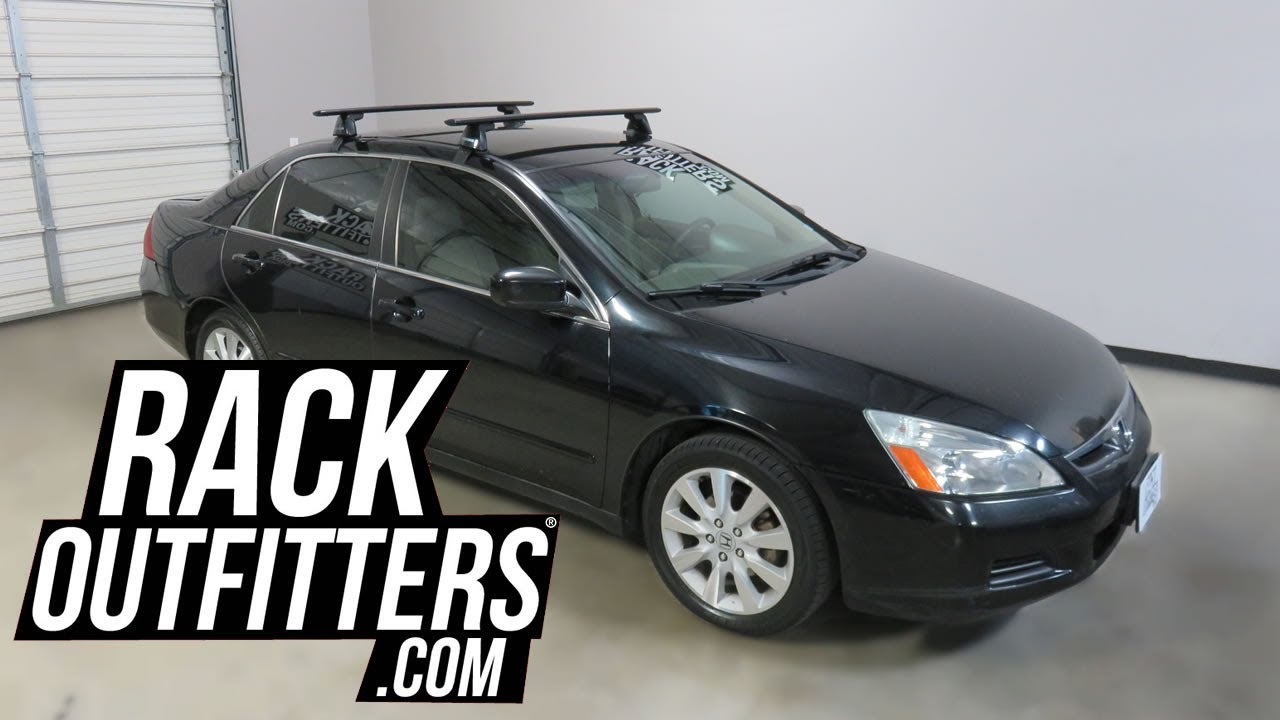 2003 To 2007 Honda Accord Sedan With Yakima BaseLine JetStream Roof Rack  Crossbars