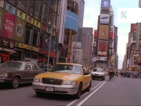 2001 Drive Through New York, Manhattan, Park Avenue, Archive Footage, 2000s