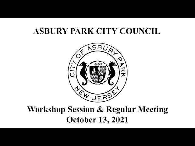 Asbury Park City Council Meeting - October 13, 2021