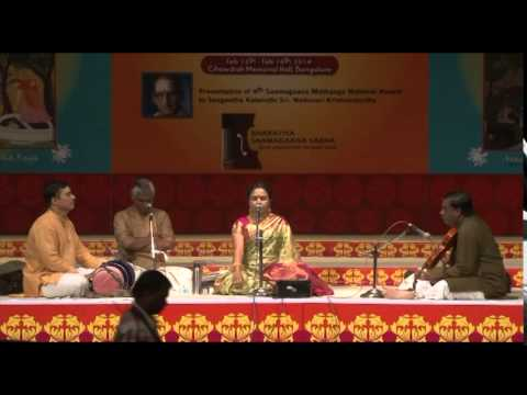 2014 - Concert by Smt. Sudha Raghunathan (Carnatic Vocal) - Part One