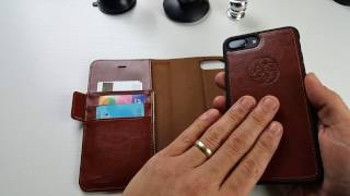 iPhone 7/8 & 7/8 Plus: Superior Wallet Case w/ Detachable Magnetic Back & RFID by DREEM
