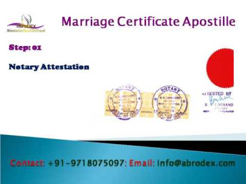 Marriage Certificate Apostille Attestation, Embassy Legalization