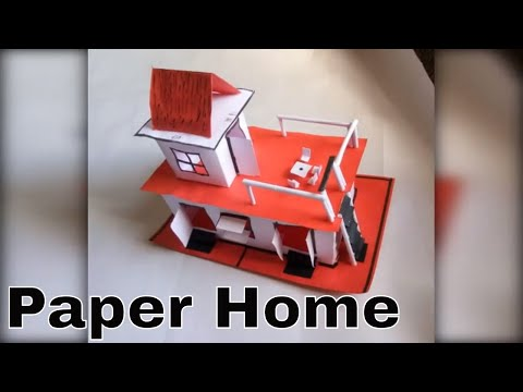 Wow! Tiny Paper House | How to make beautiful paper house | art and craft - DIY