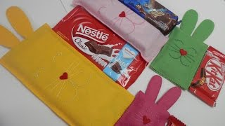 Embalagem para chocolate em feltro –  Passo a passo com Alinne Marques