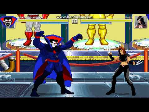 Mister Sinister Mugen Multiverse test basic set and some powers
